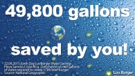Earth Day: 49,800 Gallons of Water Saved